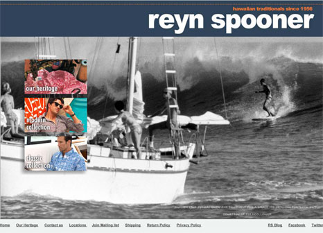New Reyn Spooner Website