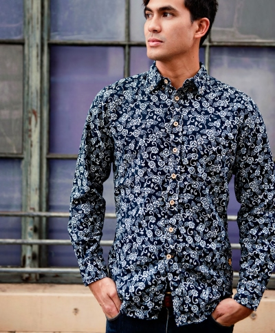 "Nobara ""wild rose""  Go wild. Stay classy. This style walks the line between the two with a robust floral print done up right with classic tailoring."