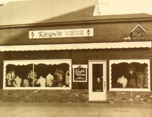 Original Reyn's Men's Sports wear in 1949 on the island of Catalina.