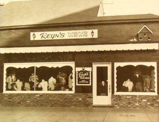 Original Reyn's Men's Sports wear in 1949 on the island of Catalina.